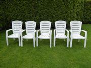 Gartenstühle Kunststoff 5 Stück