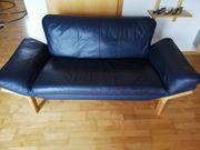 Sofa Couch Echte Leder Holzrahmen