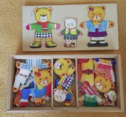 Teddy Puzzle aus Holz