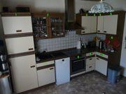 Küche Einbauküche Eiche-Furniert Beige Braun
