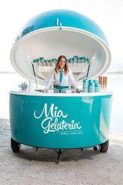 Mobiler Eisverkauf - Verkaufsstand
