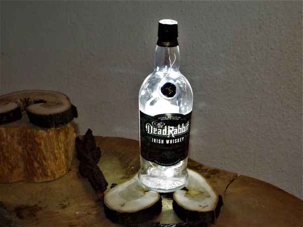 Lampe Flaschenlampe Rabbit Whisky