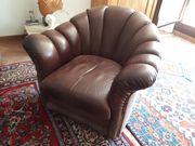 Hochwertigen Sessel aus braunen Büffelleder