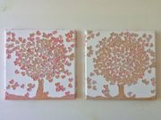 Gemälde Liebesbaum Herz Baum Baby