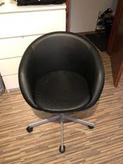 IKEA Skruvsta Drehstuhl schwarz
