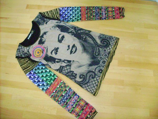 Desigual Marilyn Monroe Langarmshirt Gr