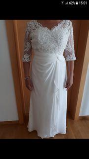 wunderschönes Brautkleid elfenbeinfarben
