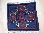 Kleiner handgeknüpfter Teppich 44x43 cm