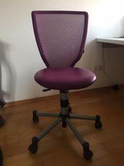 Bürostuhl Drehstuhl lila Netzrücken
