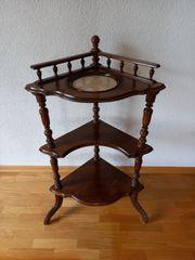 Eckregal Tischchen mit eingelassener Steinplatte