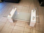 Glas Couchtisch 110 x 68cm