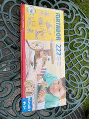 Spielzeug Konstruktionsbaukasten Matador 222 Holz