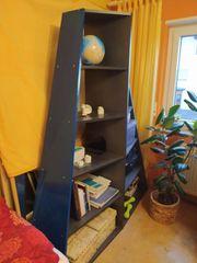 Stand-Regal Blau-schwarz formschön