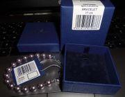 Swarovski Armband Perlenarmband lila mauve