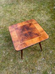 Salon Tisch furniert Echtholz 1950er