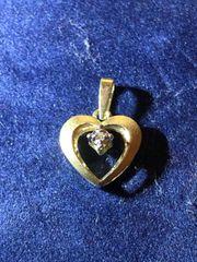 Gold Anhänger Herz mit Diamant