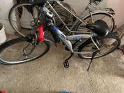 Jugendrad Fahrrad silber-blau
