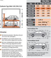 Parkhebebühne Stapelparker Multiparking Klaus 2062-195