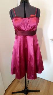 Kleid rosa Satin Gr 44