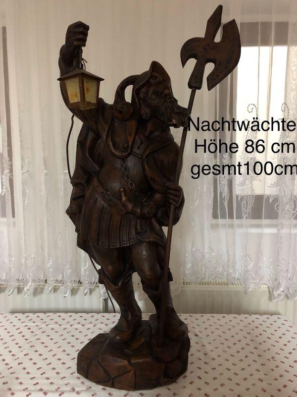 Nachtwächter Holzschnitzerei