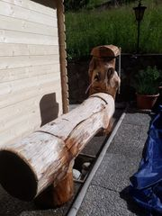Holz-Brunnentrog
