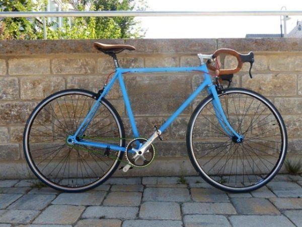 Singlespeed Vintage Rennrad mit Freilauf -