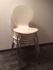 Stühle weiß 6 Stück