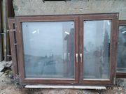 Zu verschenken Meranti - Holzfenster