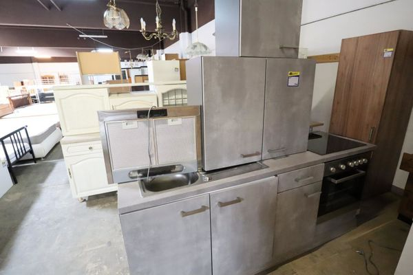 Küchenblock komplett, 220, grau - HH230716