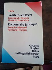 Wörterbuch Recht Franz -Deutsch-Franz