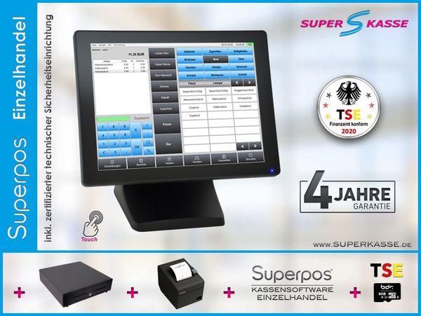Kiosk Kassensystem Einzelhandel Superpos TSE
