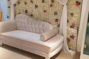 Couch Weiß gepflegt
