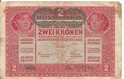 2 Kronen Banknote Österreichisch Ungarische