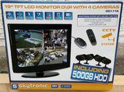 Videoüberwachung Skytronic Überwachungskamera mit 4