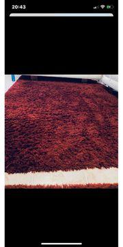 Teppich Shaggy Rot Weinrot 4