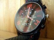 Herren Sport Armbanduhr Red Digit