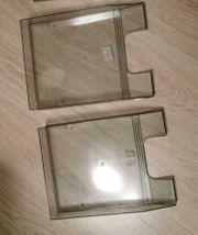 2 Briefablagen glasklar DIN 4
