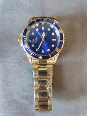 Rolex Uhr gold-blau