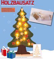 Holzbausatz Weihnachtsbaum Christbaum 20 tlg