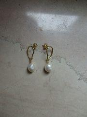 Ohrringe aus echtem Silber vergoldet