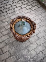 Ballonflasche Gärflasche im Weidenkorb