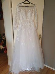 Hochzeitskleid A Linie Tüll