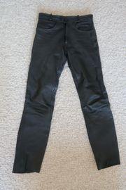 Motorradlederhose schwarz Größe 48
