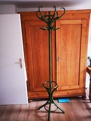 Garderobenständer Kleiderständer grün Holz Vintage