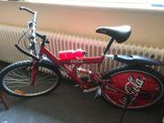Fahrrad in Coca Cola Desgin