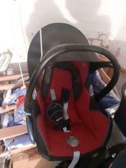 Maxi Cosi CabrioFix schwarz rot