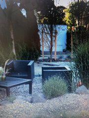 Gartenlounge aus 4 Sesseln mit