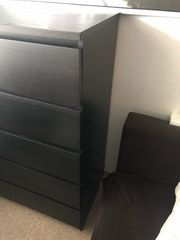 Ikea Malm Kommode schwarz mit