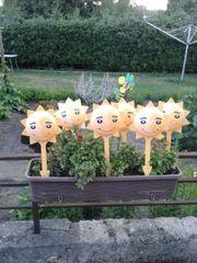 6 Deko Sonnengesichter