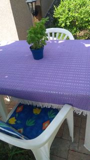 Gartentisch weiß Plastik incl 4